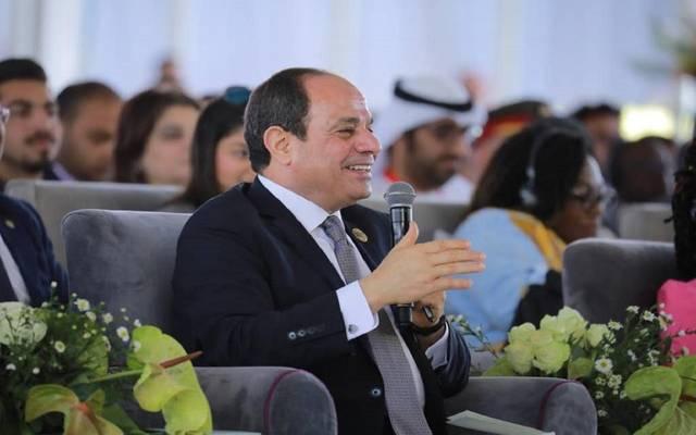 الرئيس السيسي خلال إحدى جلسات الملتقى بمدينة أسوان