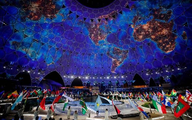 خلال حفل افتتاح إكسبو دبى 2020