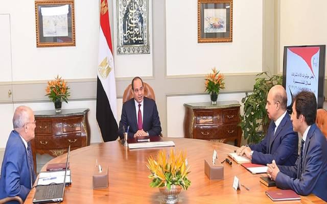 اجتماع الرئيس السيسي بوزير الإنتاج الحربي