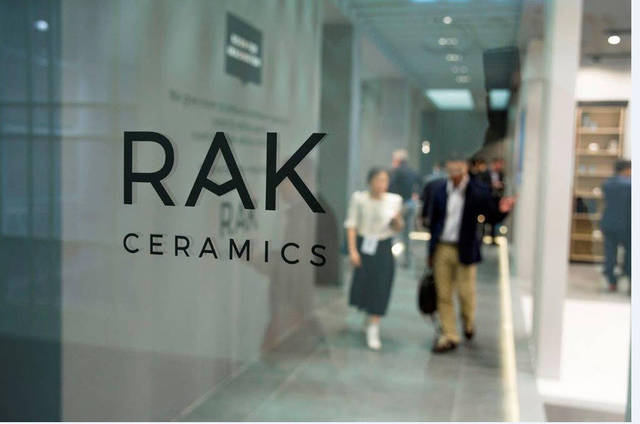 Up to 70% of RAK Ceramics' production capacity exists in the UAE
