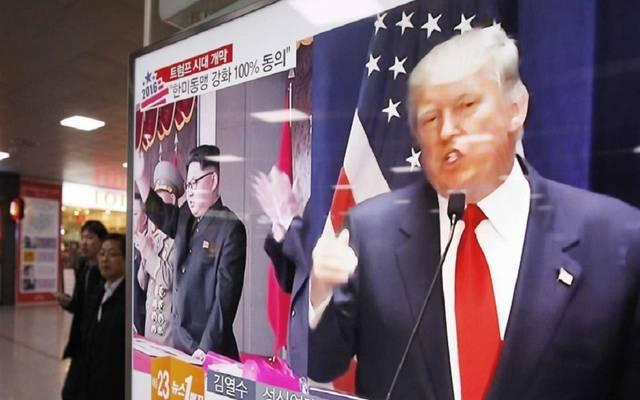 الرئيس الأمريكي وزعيم كوريا الشمالية