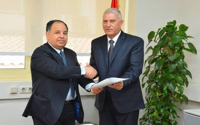 رئيس مصلحة الجمارك السيد نجم مع وزير المالية محمد معيط - أرشيفية