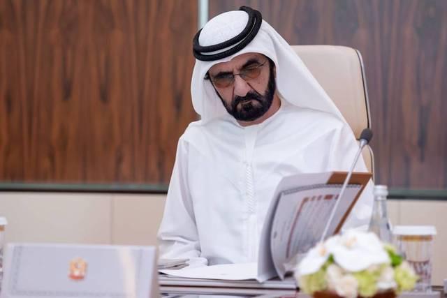 الشيخ محمد بن راشد آل مكتوم نائب رئيس الإمارات رئيس مجلس الوزراء حاكم دبي