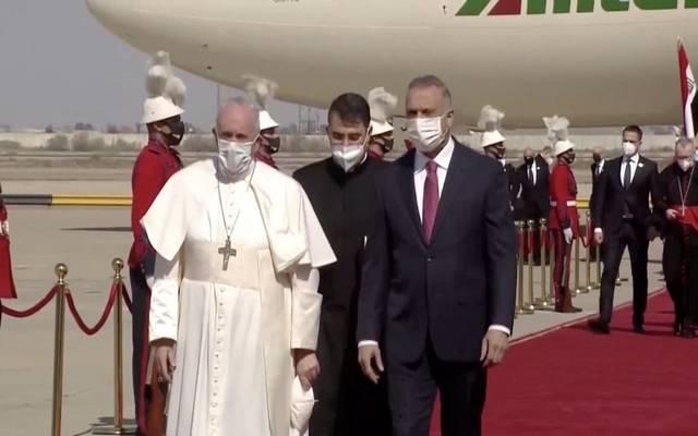 جانب من استقبال بابا الفاتيكان