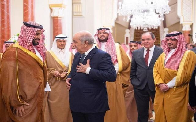 ولي العهد السعودي ورئيس الجزائر يبحثان تطورات الأحداث الإقليمية