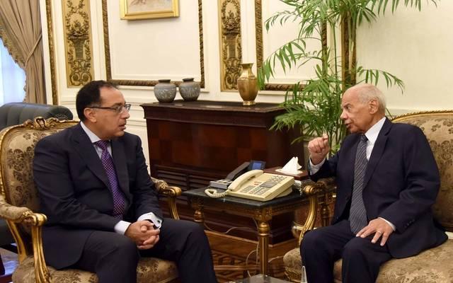 خلال لقاء رئيس الوزراء المصري مع حازم الببلاوي