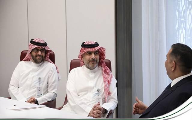 جانب من اجتماع اللجنة المالية والمصرفية التابعة لمجلس التنسيق السعودي العراقي