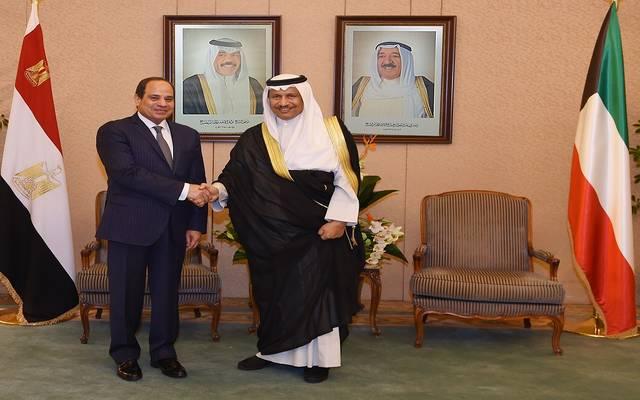 الشيخ جابر المبارك الحمد الصباح والرئيس عبدالفتاح السيسي