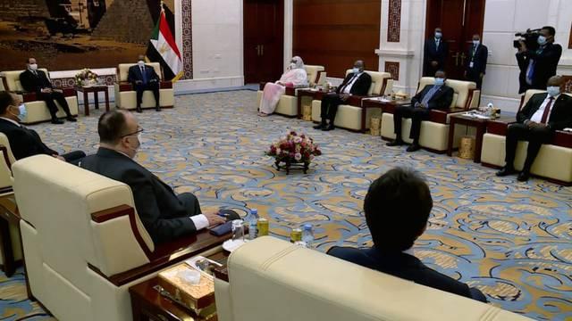 جانب من المباحثات المصرية السودانية