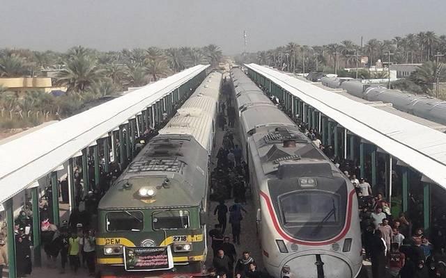 إحدى محطات السكك الحديدية العراقية