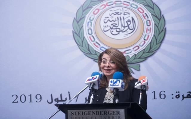 خلال كلمة وزيرة التضامن الاجتماعي - غادة والي